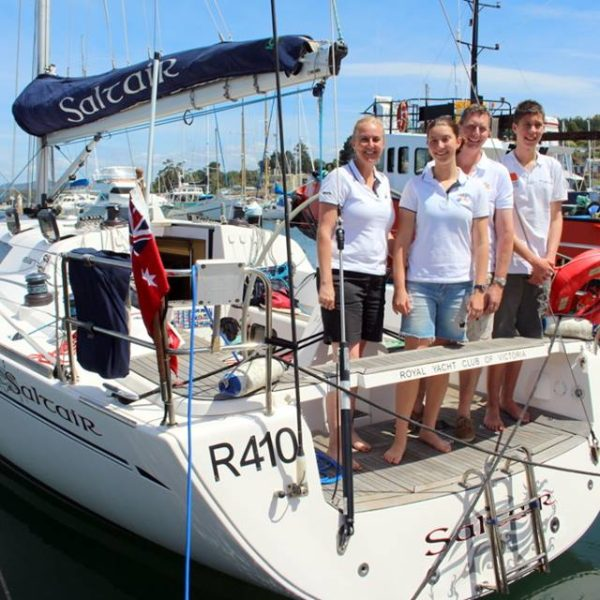 Family crew from Victoria on Saltair